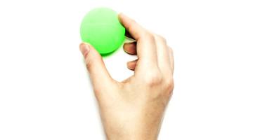 hand holds green ball - cell sorter