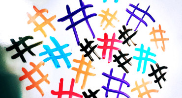 hashtags on whiteboard