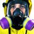 man wearing a respirator