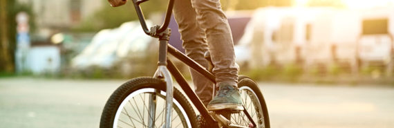 teen guy on bmx bike