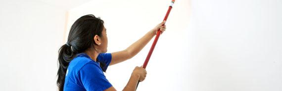 teen painting wall - summer jobs