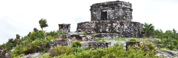 Maya ruins in Tulum Mexico