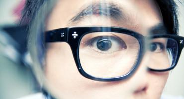 magnified eye