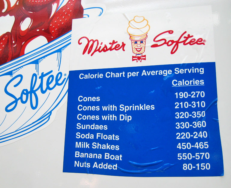 calories at Mister Softee
