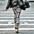 woman in a crosswalk