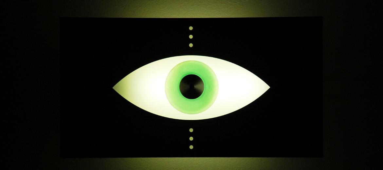 green eyeball light