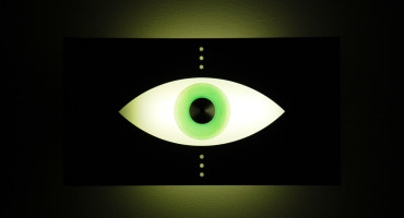 green eyeball light