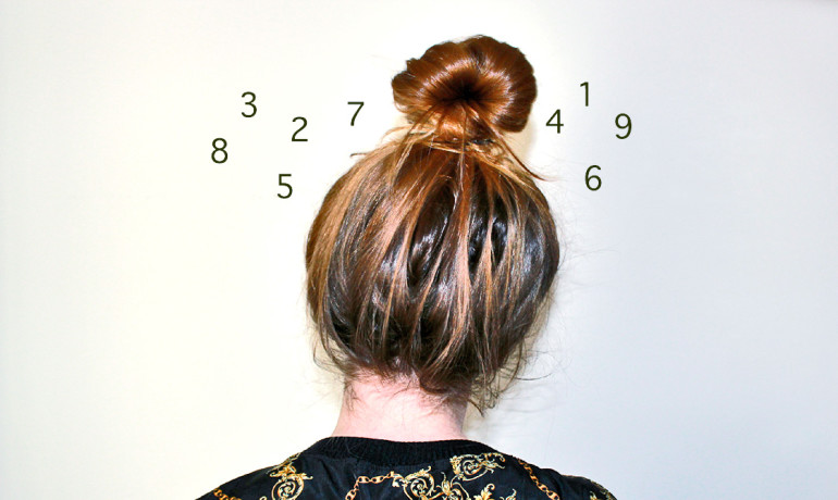 woman's head surrounded by numbers