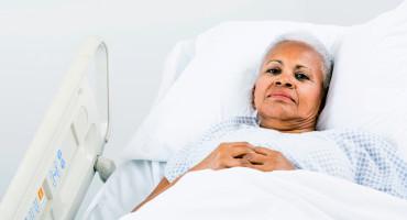 unhappy hospital patient