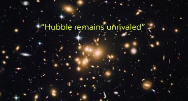 Hubble image of faint galaxies