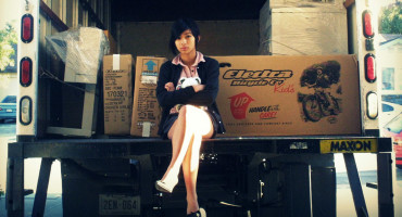 teen in moving truck