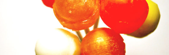 candy - orange lollipops
