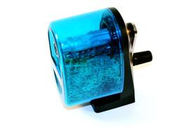 blue pencil sharpener