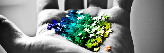 star glitter in hand