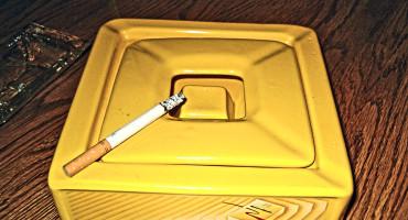 yellow ashtray