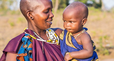 Maasai mom and baby