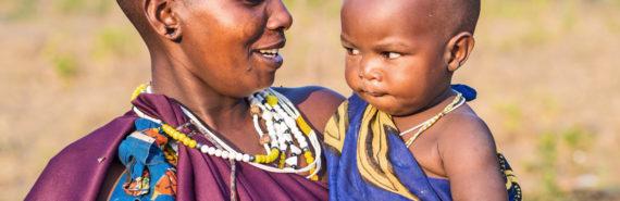 Maasai mom and baby