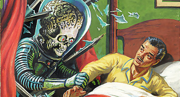 Mars Attacks - alien and retro guy