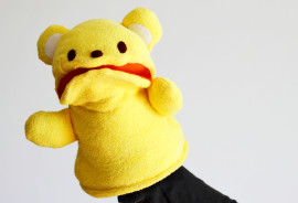 yellow bear puppet