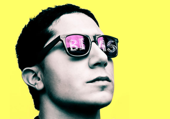 glasses on yellow