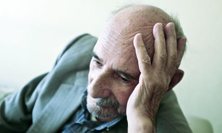 lonely older man