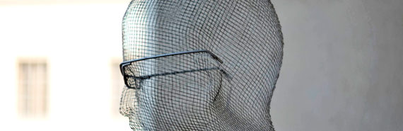 head made of wire mesh