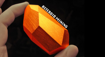 orange gem - asteroid mining