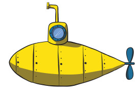 yellow submarine illustration