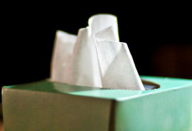 box of tissues for cold