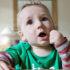 toddler eats raisins