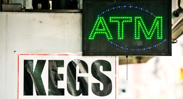 ATM sign and keg sign