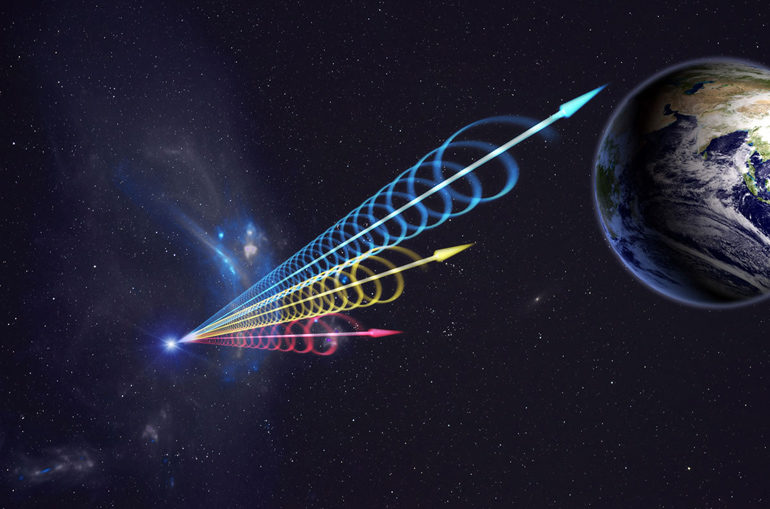 fast radio burst heads to Earth