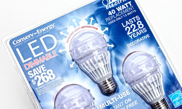 pack of LED bulbs