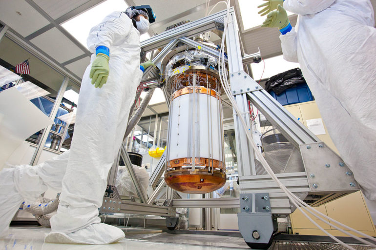 assembly of LUX detector