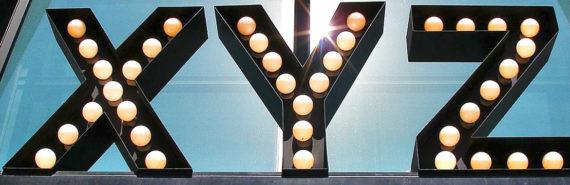 XYZ sign