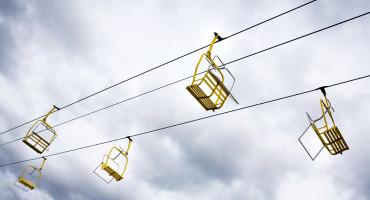 empty chair lift - ski runs