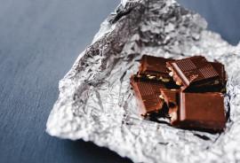 chocolate in tin foil