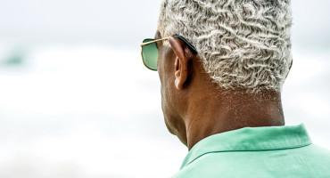 older black man facing away