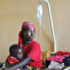 mother and child recover from malaria in a hospital in Burundi
