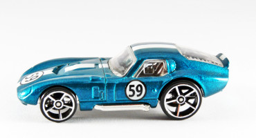 sparkly blue toy racecar