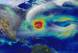computer model of Hurricane Sandy