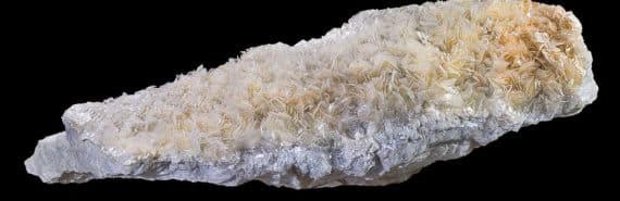 talc crystals on black