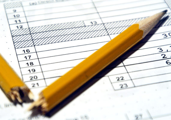 broken pencils on tax form - earned income tax credit