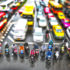 city traffic with tilt shift effect