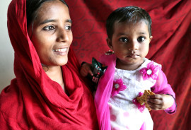 mom and baby in bangladesh