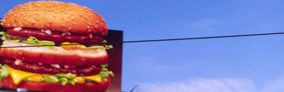 burger billboard sign