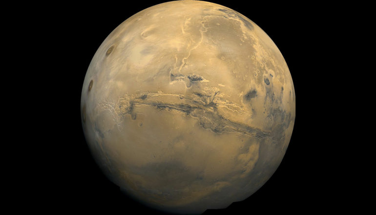 """If conditions are too cold and dry to support active microbial life on an analogous climate on Earth, then the colder dryer conditions in the near surface permafrost on Mars are unlikely to contain life,"" says Lyle Whyte. (Credit: NASA)"
