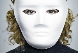 woman wearing an anonymous mask