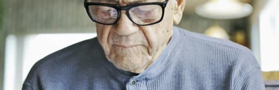 older man reading