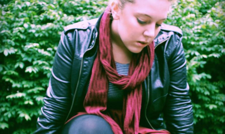 teen girl in scarf & jacket